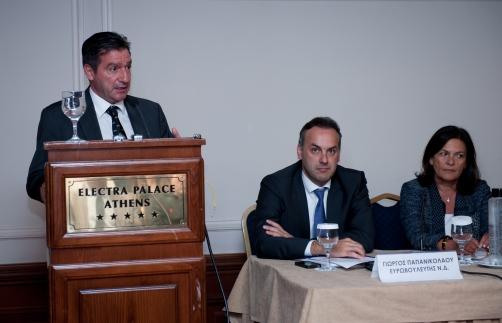 Ο Δήμαρχος των Αθηναίων κος Γ.Καμίνης , ο Ευρωβουλευτής της Ν.Δ κος Γ.Παπανικολάου , η Πρόεδρος της Κι.Πο.Κ.Α κα Β.Βερνίκου